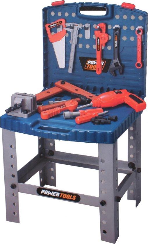 Bol Com Toi Toys Werkbank In Koffer Power Tools 15 Cm Blauw