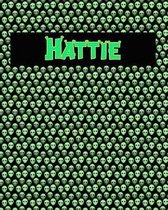 120 Page Handwriting Practice Book with Green Alien Cover Hattie