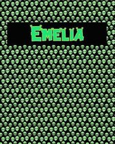 120 Page Handwriting Practice Book with Green Alien Cover Emelia