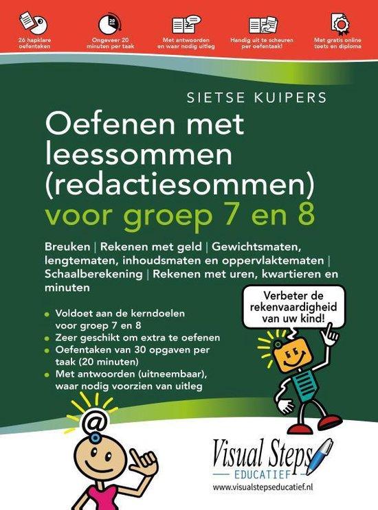 Boek cover Oefenen met leessommen (redactiesommen) voor groep 7 en 8 van Sietse Kuipers (Paperback)