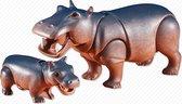Playmobil nijlpaard met jong