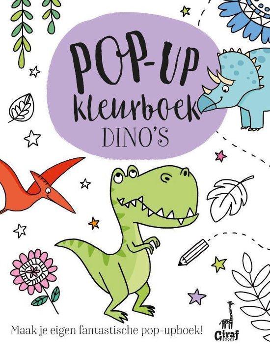 Pop-up kleurboek dino's - none  