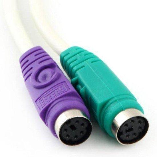   Plug & Play PS2 Toetsenbord & Muis USB Adapter