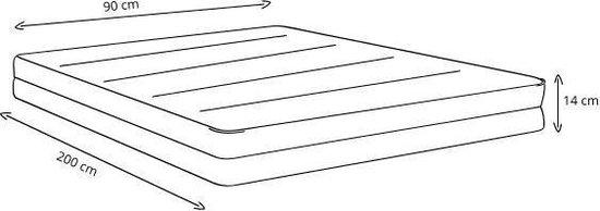 Trendzzz® Matras 90x200 Comfort Foam - 14 cm matrasdikte stevig ligcomfort