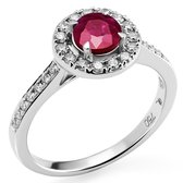 Orphelia RD-3916/RU/56 - Ring - Goud 18 kt - Diamant 0.29 ct / Robijn 0.73 ct - 17.75 mm / maat 56