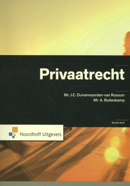 Privaatrecht - A. Buitenkamp |