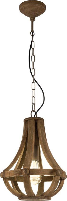 EGLO Vintage Kinross Hanglamp - 1 Lichts - Bruin - E27