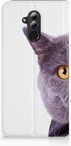 Huawei Mate 20 Lite Uniek Standcase Hoesje Kat