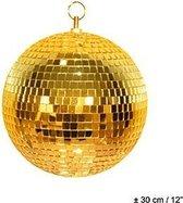 Disco spiegel bal goud 30 cm