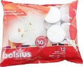 Bolsius Maxi Waxinelichtjes - 12 Stuks - Wit