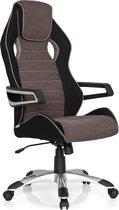 hjh office Racer Pro III - Bureaustoel - Stof - Zwart / grijs / beige