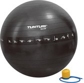 Tunturi Fitnessbal - Gymball - Swiss ball - 90 cm - Anti burst - Incl. pomp - Zwart