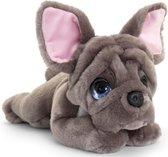 Keel Toys pluche Franse bulldog grijs honden knuffel 37 cm - Honden knuffeldieren - Speelgoed voor kind