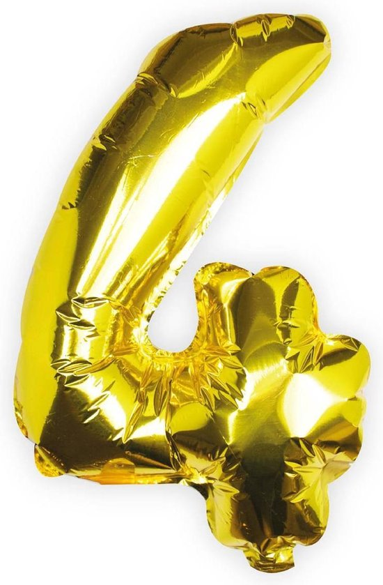 Ginger Ray Pick & Mix - Folieballon cijfer 4 - goud