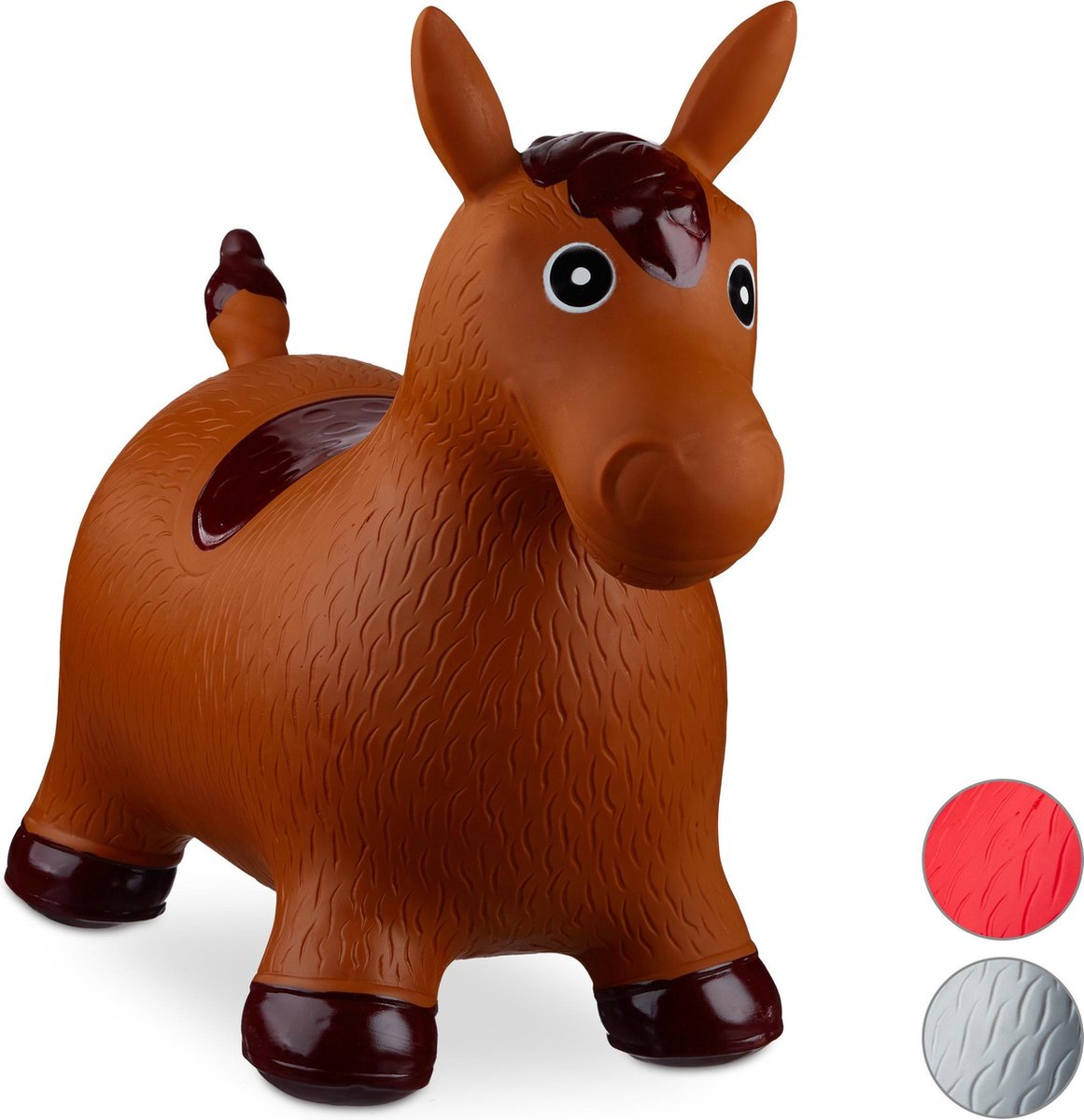relaxdays Skippy dier paard - skippydier - skippyball - skippybal paard - 50 kg - kinderen bruin