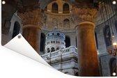 Architectuur van de Heilig Grafkerk in Jeruzalemn Tuinposter 180x120 cm - Tuindoek / Buitencanvas / Schilderijen voor buiten (tuin decoratie) XXL / Groot formaat!