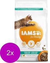 Iams Cat Adult Sterilised - Kattenvoer - 2 x Kip 3 kg