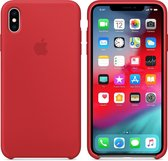 Apple Siliconen Back Cover voor iPhone XS Max - Rood