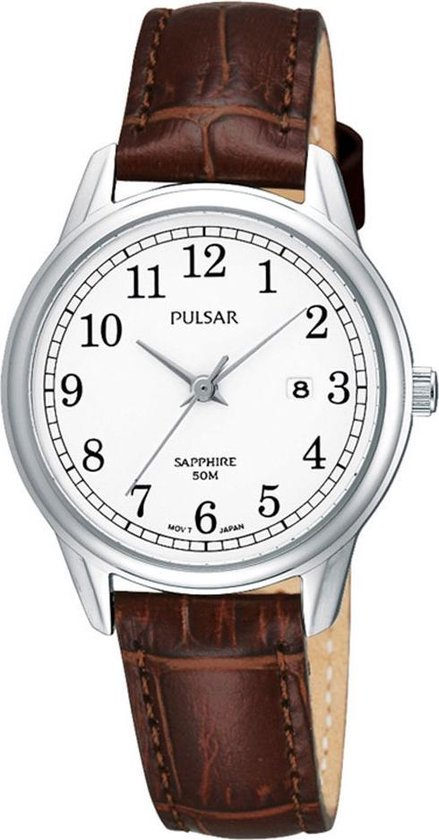 Pulsar PH7187X1 - Horloge - 30 mm - Bruin