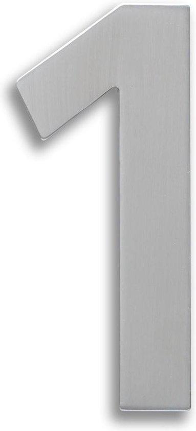 Xaptovi Huisnummer 1 Materiaal: RVS - Hoogte: 15cm - Kleur: RVS - XAPTOVi