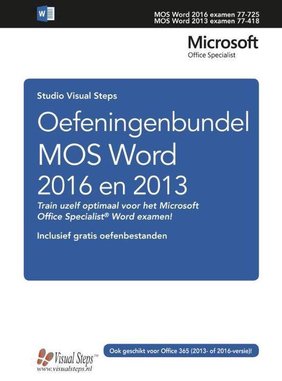 Oefeningenbundel MOS Word 2016 en 2013 - Studio Visual Steps pdf epub