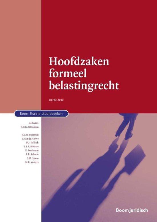 Boom fiscale studieboeken - Hoofdzaken formeel belastingrecht - none |