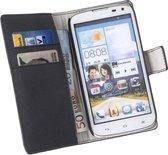 LELYCASE Bookcase Zwart Flip Wallet Hoesje Huawei Ascend G610
