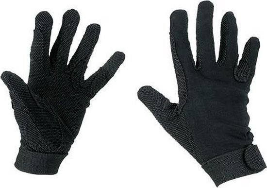 Kerbl Rijhandschoen Katoen Jersey Zwart S