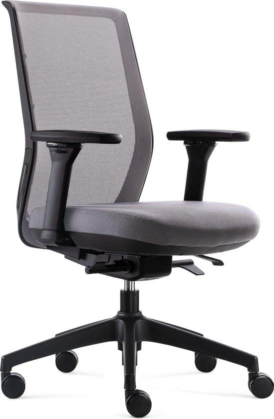 BenS 837 Synchro 4 Ergonomische Bureaustoel met alle instel opties Voldoet aan EN1335 en de Arbo normen Grijsgrijs