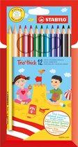 STABILO Trio Dik Kleurpotloden - Etui 12 kleuren