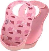 2-pack Bibetta slab nijlpaard / roze