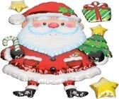 Kerst decoratie 3D raamstickers Kerstman 28 x 41 cm - raamversiering