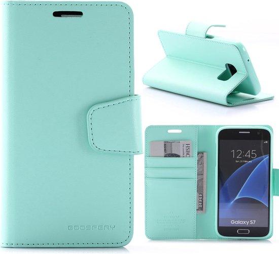 Samsung Galaxy S7 Booktype Hoesje Mercury Sonata - Cyaan