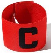 Aanvoerdersband Captainsband - C - Captain Aanvoerder Band - Rood - Senior   voetbal - Hockey - Volleybal - Honkbal   Heble