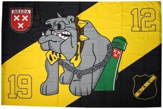 NAC Breda Vlag - Bulldog - Geel