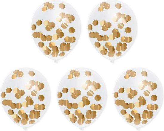 Confetti Ballonnen Goud 30CM (5ST)