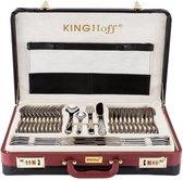 KINGHOFF Bestekset in Koffer - 72 delig - 12 persoons