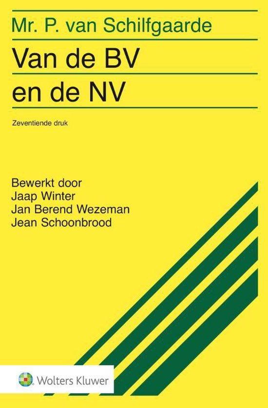 Van de BV en de NV - P. van Schilfgaarde |