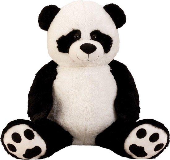 Pluche Knuffel Pandabeer (extra) groot XXL  100cm - met kraalogen