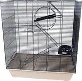 Rattenkooi zwart / beige 70,5x40,5x79,5 cm