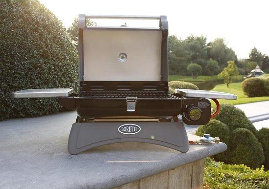 Boretti Piccolino Gasbarbecue - 1 Brander - Grilloppervlak 43 x 33 cm - Zwart