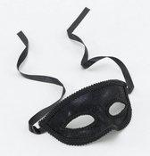 Zwart oogmasker met kant