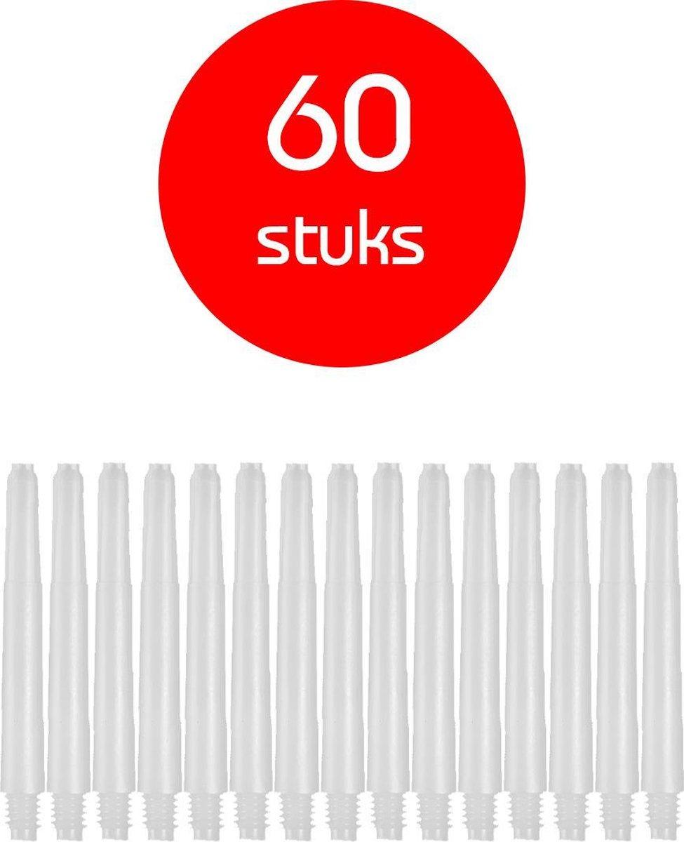Dragon Darts - darts shafts - 20 sets (60 stuks) - inbetween - wit - dart shafts - shafts