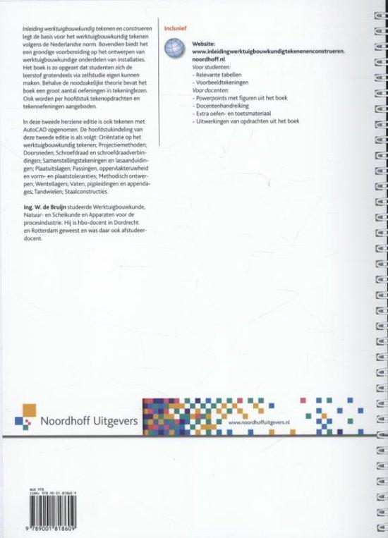 Inleiding werktuigbouwkundig tekenen en construeren - W. de Bruijn |