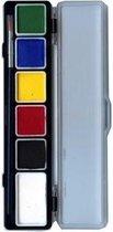 Aqua schminkpallet 6 reguliere kleuren