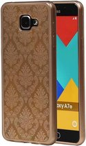 Samsung Galaxy A7 2016 Hoesje TPU Paleis 3D Backcover Goud