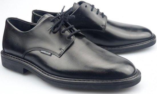 Mephisto MILVIO zwart lederen *handmade* veterschoen voor heren - Maat 46