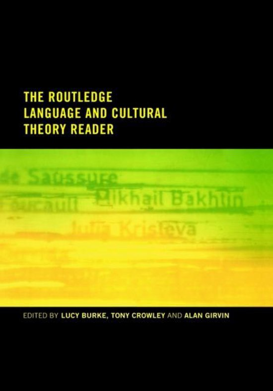 Boek cover The Routledge Language and Cultural Theory Reader van  (Hardcover)