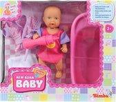 Mini New Born Baby in Bad Set