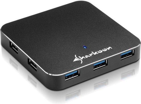 Sharkoon 7-Port USB 3.0 Aluminium Slim Hub